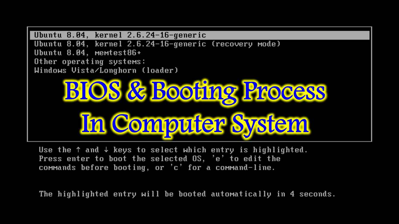 booting process in computer